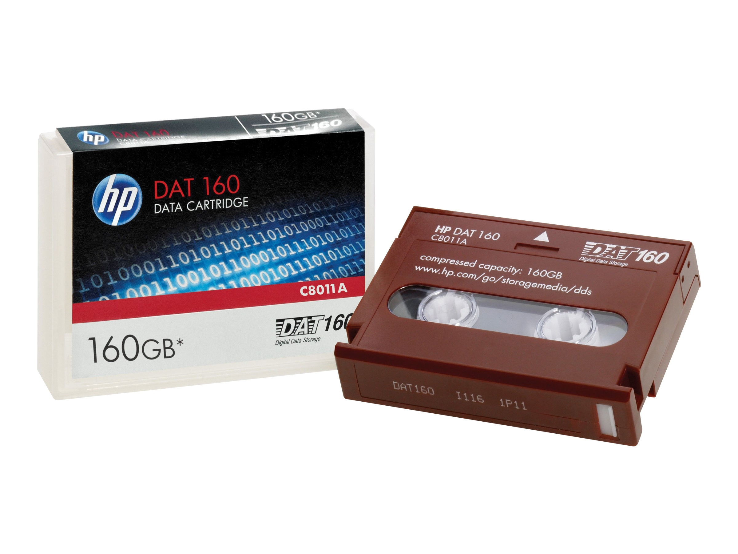 HPE DAT 160 Data Cartridge 160GB, C8011A, 7740280, Tape Drive Cartridges & Accessories