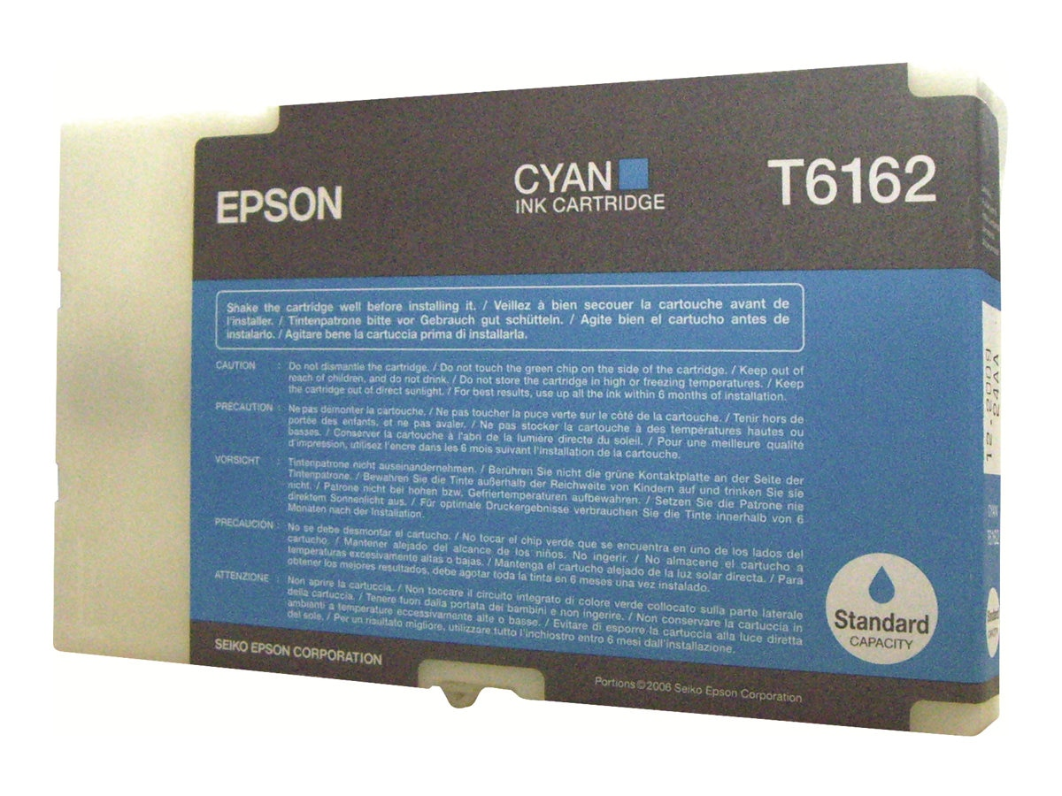 Epson Cyan Ink Cartridge for B-300 & B-500DN Business Color Ink Jet Printer, T616200