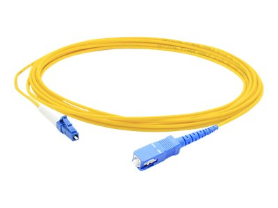 ACP-EP LC-SC 9 125 Singlemode Fiber Cable, Yellow, 9m, ADD-SC-LC-9MS9SMF, 16831909, Cables