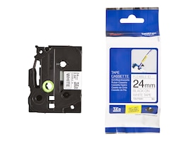 Brother 0.94 x 26.2' TZeFX251 Black on White Flexible ID Tape, TZE-FX251, 13007551, Paper, Labels & Other Print Media
