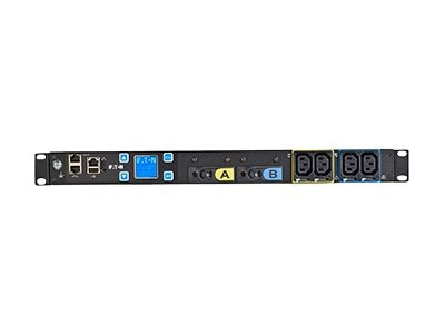 Eaton Monitored ePDU 24A 1-ph 1U L6-30P Input (16) C13 Outlets, EMIT05-10