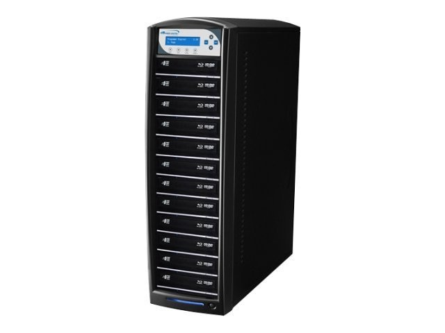 Vinpower SharkBlu Blu-ray DVD CD Daisy Chain 1:12 Duplicator - Pioneer w  Hard Drive, BD-PIO-12-BK