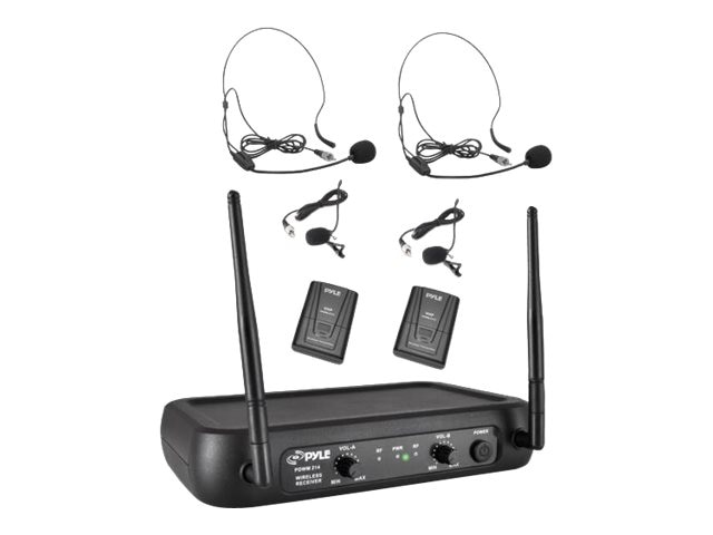 Pyle VHF Fixed Frequency Wireless Mic System, PDWM2145