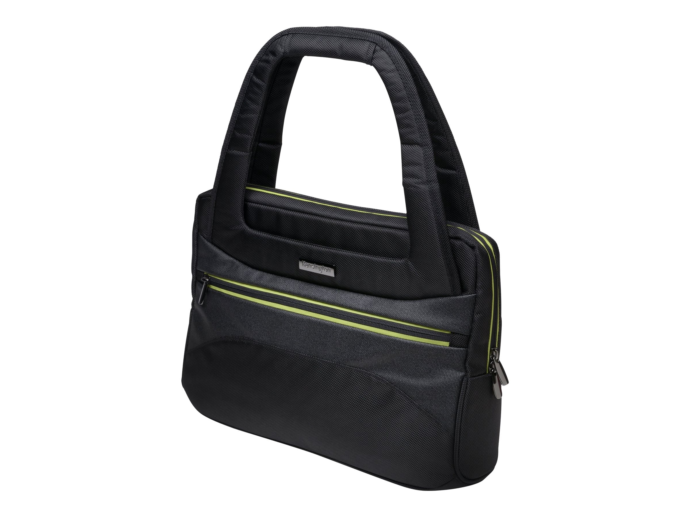 Kensington Triple Trek Ladies Tote for 13 to 14 Ultrabook, Black Green