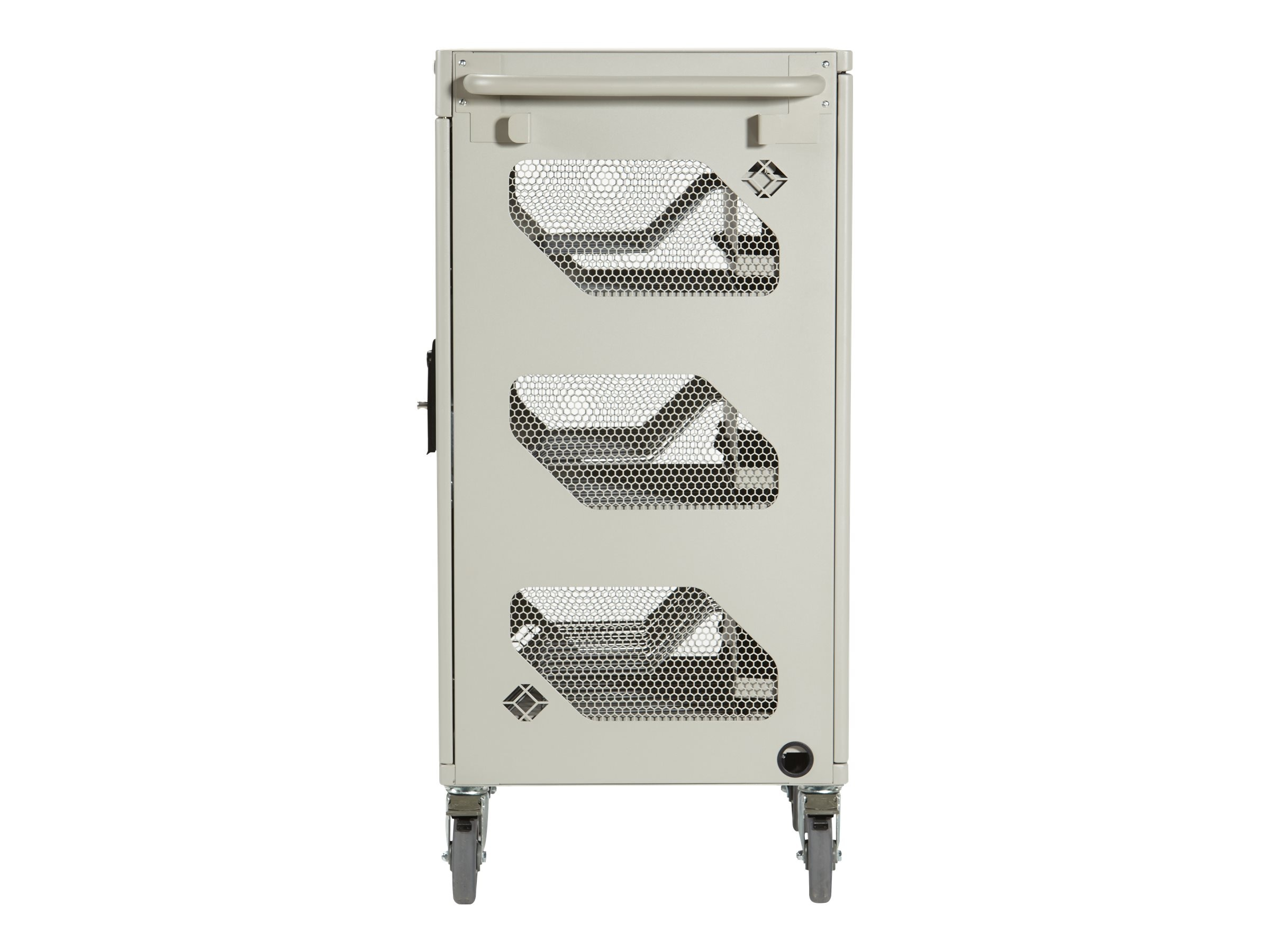 Black Box 36-Unit Standard Cart - Intelligent Charging, Hinged Door, Keylock, Front Cable Management, LIC36H-AC