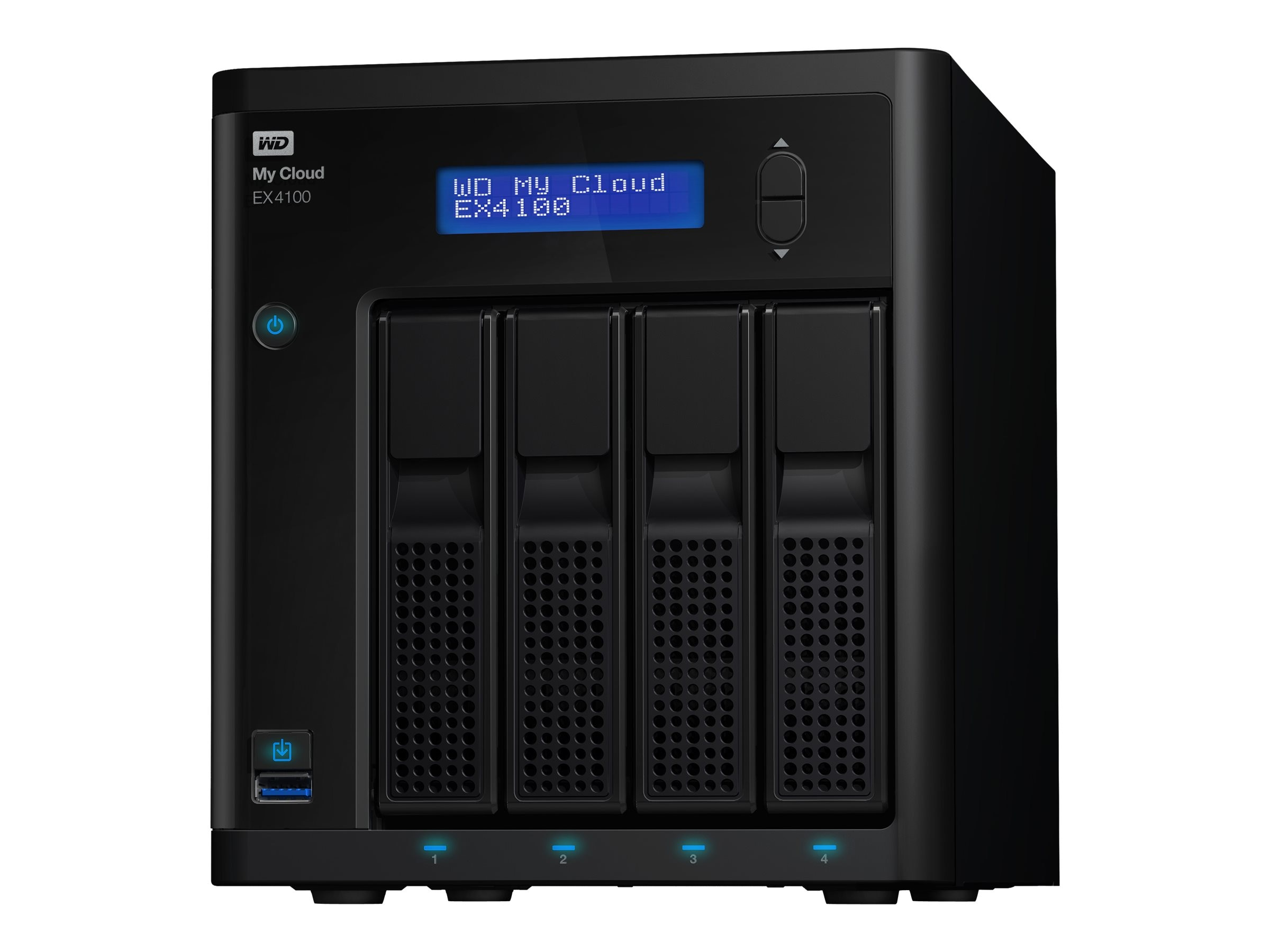 WD My Cloud EX4100 Network Attached Storage - Diskless, WDBWZE0000NBK-NESN, 18442835, Network Attached Storage
