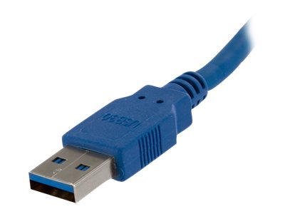 StarTech.com Super Speed USB 3.0 Cable, USB Type A to USB Type B (M-M), Blue, 10ft, USB3SAB10