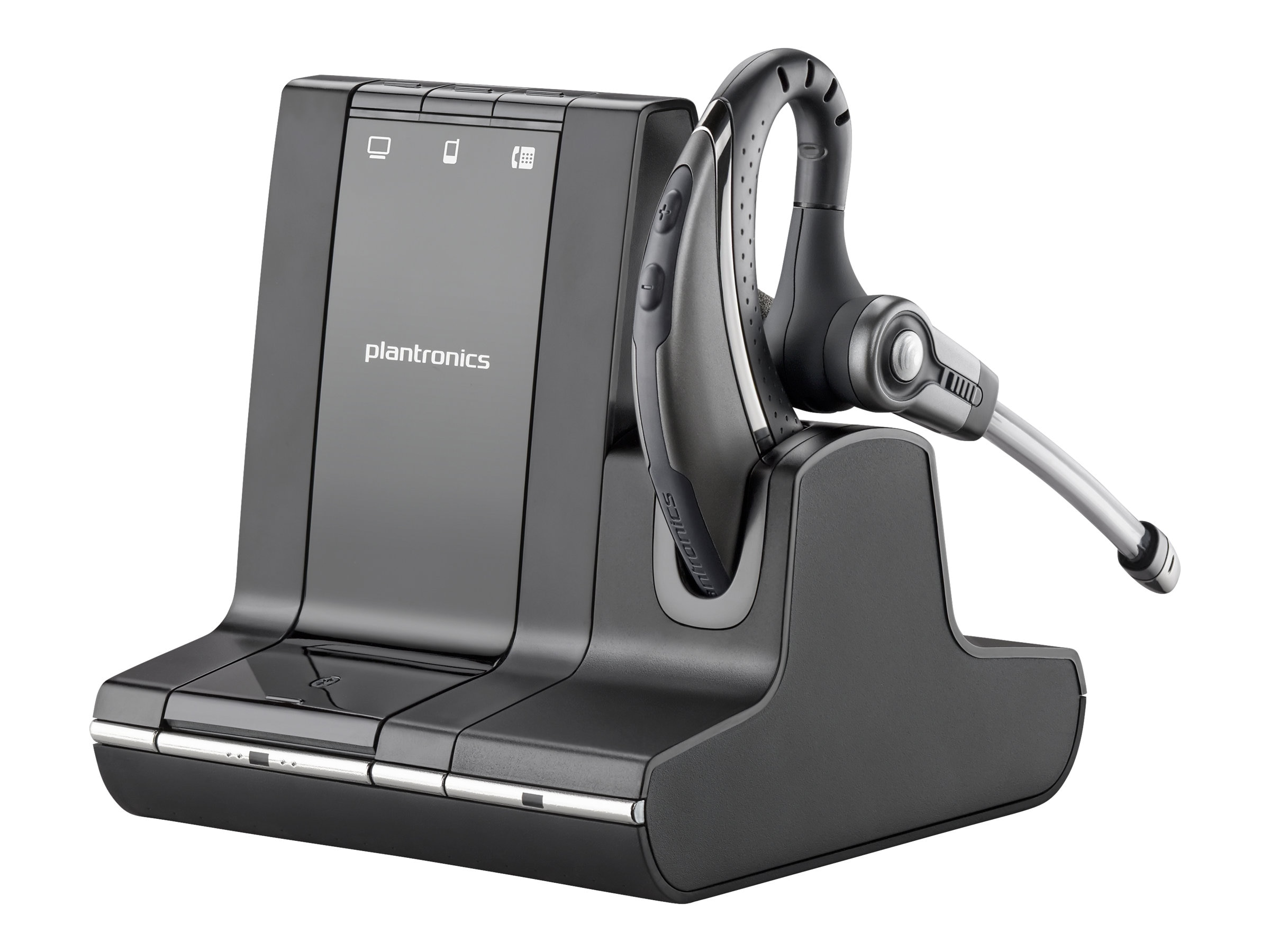 Plantronics Savi W730-M Over-the-Ear Wireless Headset System for MS, 84002-01, 13014567, Headsets (w/ microphone)
