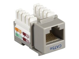 Black Box Connect CAT5e RJ-45 Keystone Jack, Gray, CAT5EJ-GY, 32990660, Cable Accessories