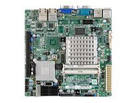 Supermicro Motherboard, ICH9R, Atom D525 1.8GHz, MITX, Max 4GB DDR3, PCIEX16, GBE, Video, SATA, MBD-X7SPA-H-D525-O, 12640195, Motherboards