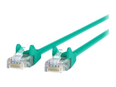 Belkin Cat6 UTP Patch Cable, Green, Snagless, 15ft