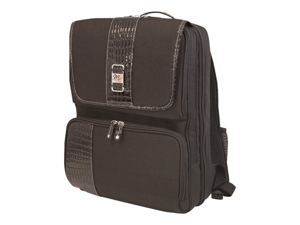 Mobile Edge ScanFast Onyx Checkpoint Friendly Backpack, MESFOBP, 9301854, Carrying Cases - Notebook