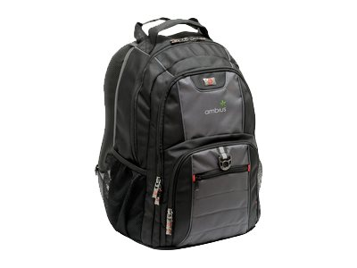 Wenger Swiss Gear Pillar 16 Computer Back Pack, Black Gray, 67382140, 23729259, Carrying Cases - Other