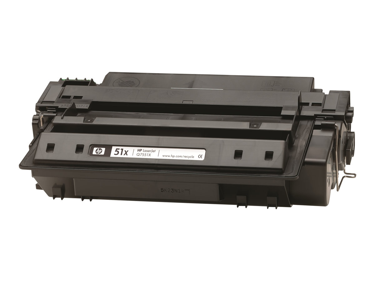 HP 51X (Q7551X) High Yield Black Original LaserJet Toner Cartridge for HP LaserJet P3005, M3035 & M3027