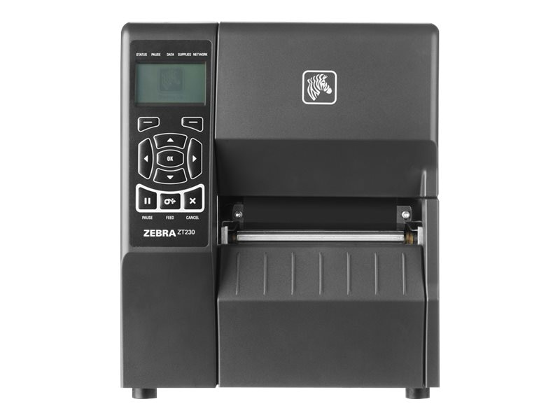 Zebra ZT230 TT 203dpi 4 Serial USB Parallel Keypad ZPLII Printer w  Peeler & US Cord, ZT23042-T11100FZ