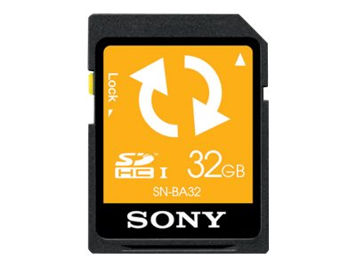 Sony 32GB SD Memory Card with Backup Function, SNBA32