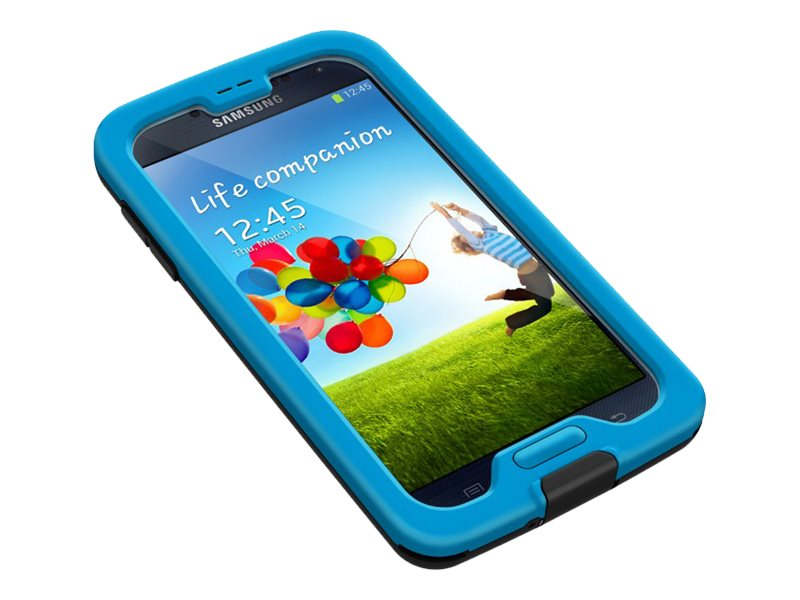 Lifeproof Nuud Case for Samsung Galaxy S4, Cyan Black Clear, 1801-04, 18925722, Carrying Cases - Phones/PDAs