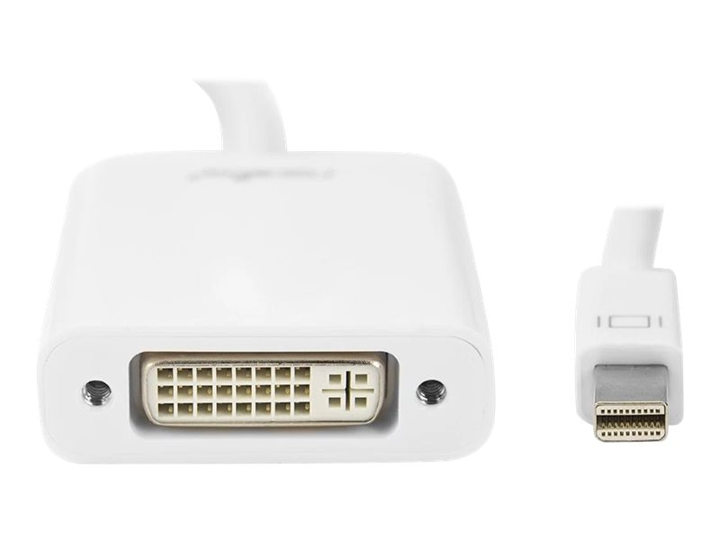 RocStorage Mini DisplayPort to DVI M F Adapter, White, Y10A103-W1, 31209042, Adapters & Port Converters