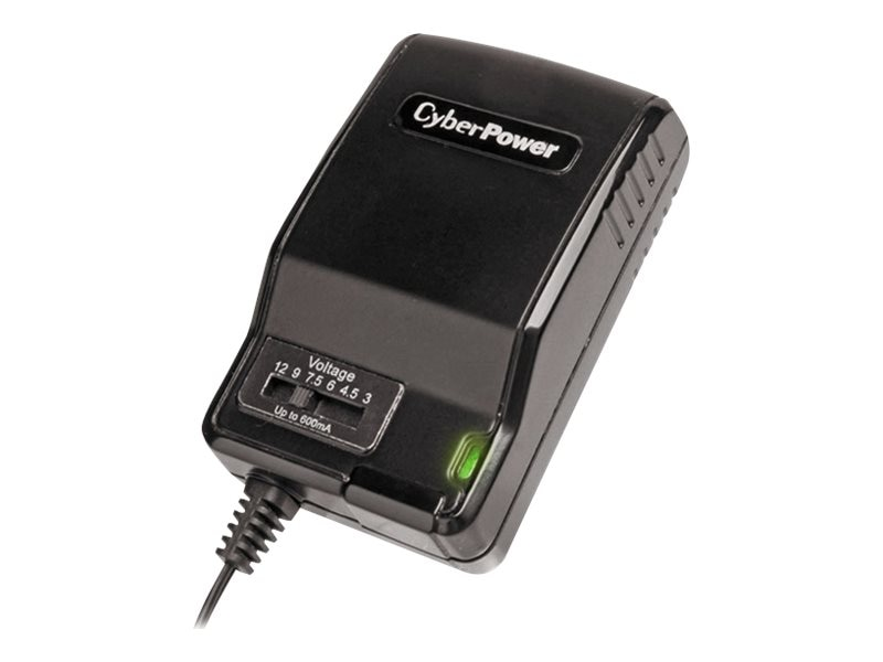 CyberPower Universal Power Adapter 600mA Multi-voltage Output (7) Tips, CPUAC600, 16183227, AC Power Adapters (external)