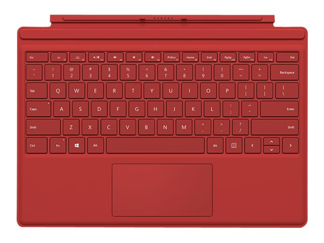 Microsoft Surface Pro 4 Type Cover, Red, R9Q-00005, 30734304, Keyboards & Keypads