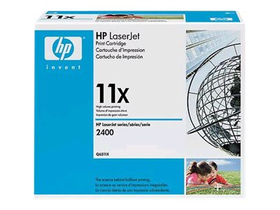 HP 11X (Q6511X) High Yield Black Original LaserJet Toner Cartridge, Q6511X