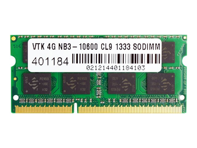 VisionTek 4GB PC3-10600 204-pin DDR3 SDRAM SODIMM, 900449