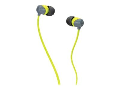 Skullcandy Jib In-Ear Headphones - Gray Hot Lime, S2DUFZ-385