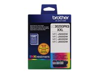 Brother Cyan, Magenta & Yellow Super High Yield INKvestment Ink Cartridges for MFC-J5830DW (3-pack)