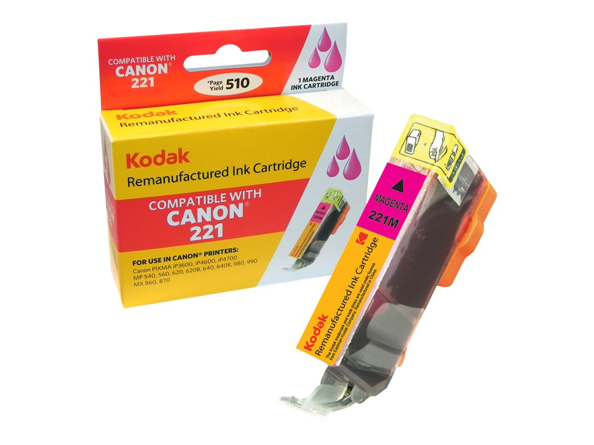 Kodak 2948B001 Magenta Ink Cartridge for Canon, CLI-221M-KD, 31286363, Ink Cartridges & Ink Refill Kits