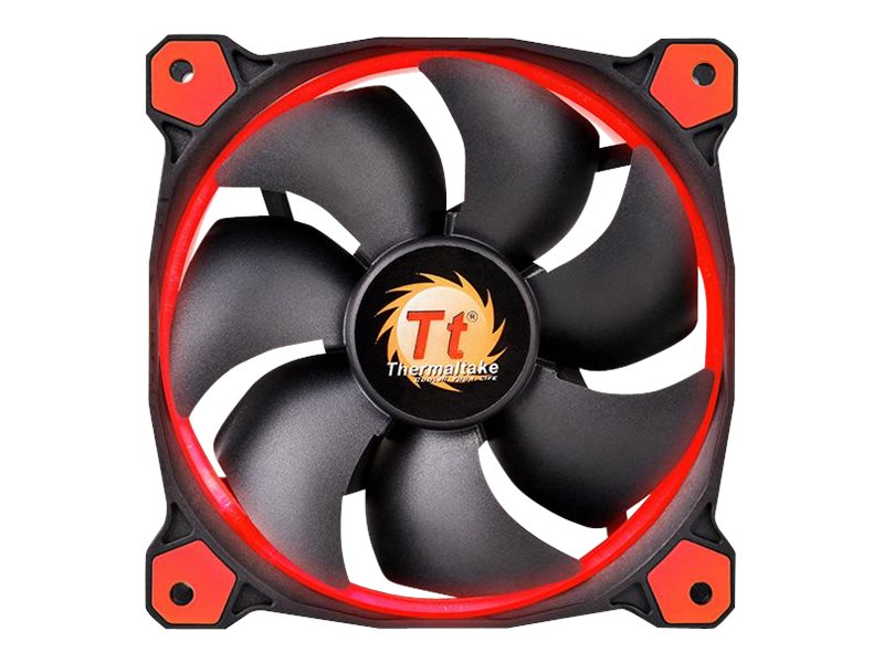 Thermaltake Riing 14 High Static Pressure LED Radiator 140mm Fan 1400 RPM, Red