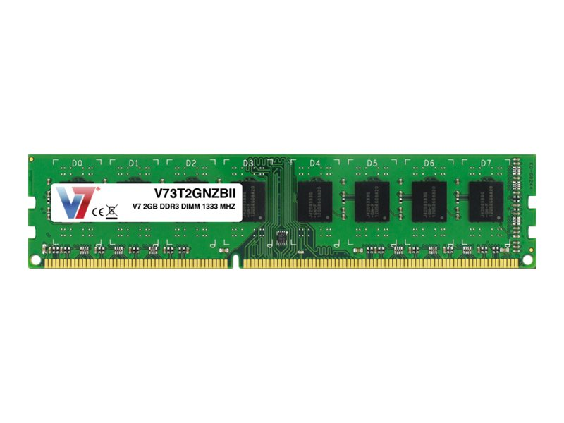 V7 2GB PC3-10600 240-pin DDR3 SDRAM DIMM, V73T2GNZBII