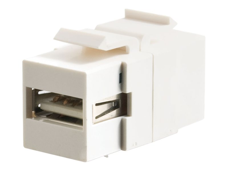 C2G Snap-In USB A B Female Keystone Insert Module, White