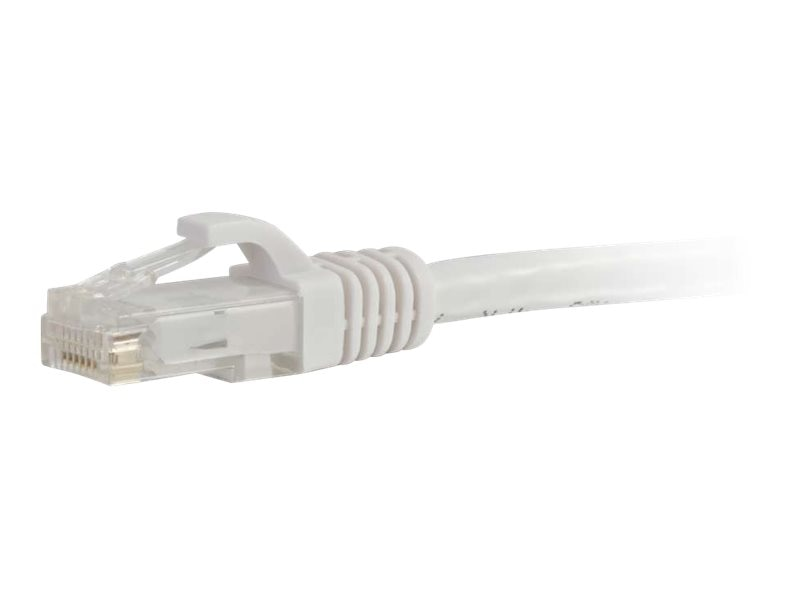 C2G Cat6 Snagless Unshielded (UTP) Network Patch Cable, White, 14ft