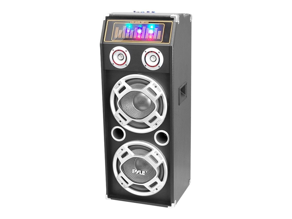 Pyle 1000-Watt Diso Jam Powered Two-Way Bluetooth Speaker System - DJ Lights, USB SD Card Reader, PSUFM1035A, 16549372, Speakers - Audio