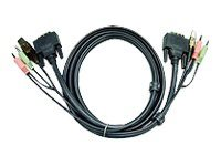 Aten DVI-D USB KVM Cable with Audio, 16.4ft, 2L-7D05U, 8219761, Cables