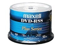 Maxell Shiny Silver Thermal DVD-R Disc, 635062, 9688323, DVD Media