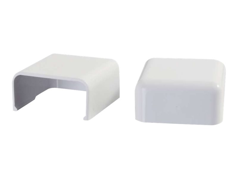 C2G Wiremold Uniduct 2900 Blank End Fitting, White, 2-Pack