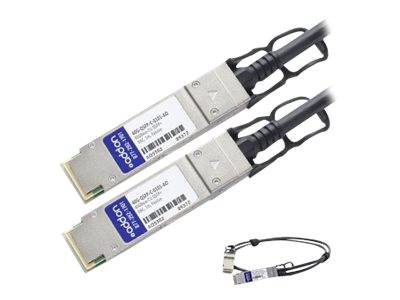 ACP-EP 40GBase-CU QSFP+ to QSFP+ Direct Attach Passive Twinax Cable for Brocade, 1m, 40G-QSFP-C-0101-AO