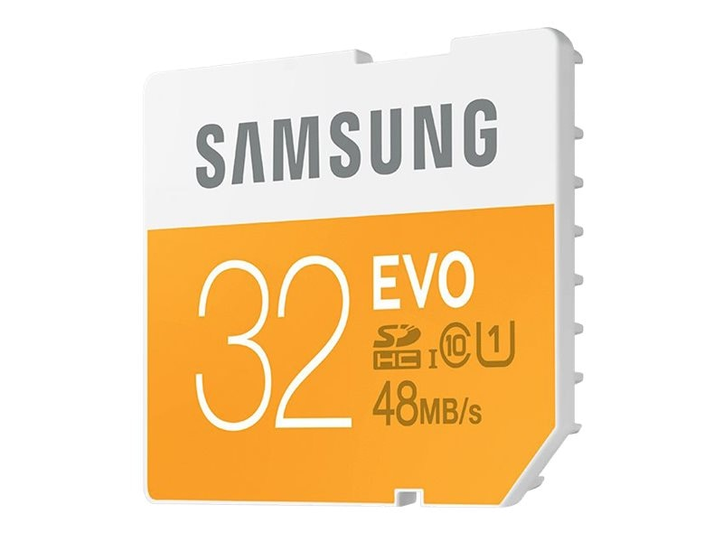 Samsung 32GB EVO SDHC Flash Memory Card, Class 10, MB-SP32D/AM, 18790899, Memory - Flash