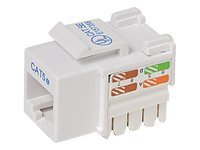 Belkin Cat5e Keystone Jack, 568A 568B, White (25-Pack), R6D024-AB5EWT25, 7631139, Premise Wiring Equipment