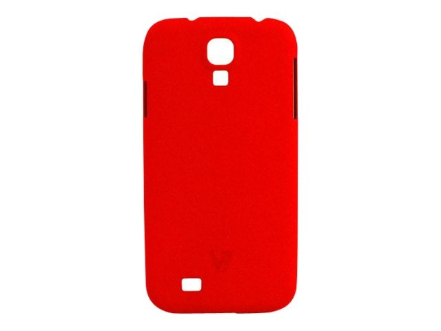 V7 Metro Anti-slip Phone Case for Samsung S4 Sand Finish PC Cover Red, PD19RED-14N, 15726277, Carrying Cases - Phones/PDAs