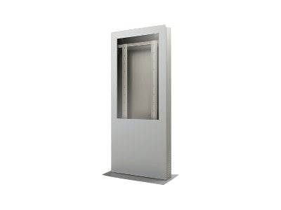 Peerless Portrait Kiosk Enclosure, Silver, for 47 Displays up to 4 Thick, KIP547-S