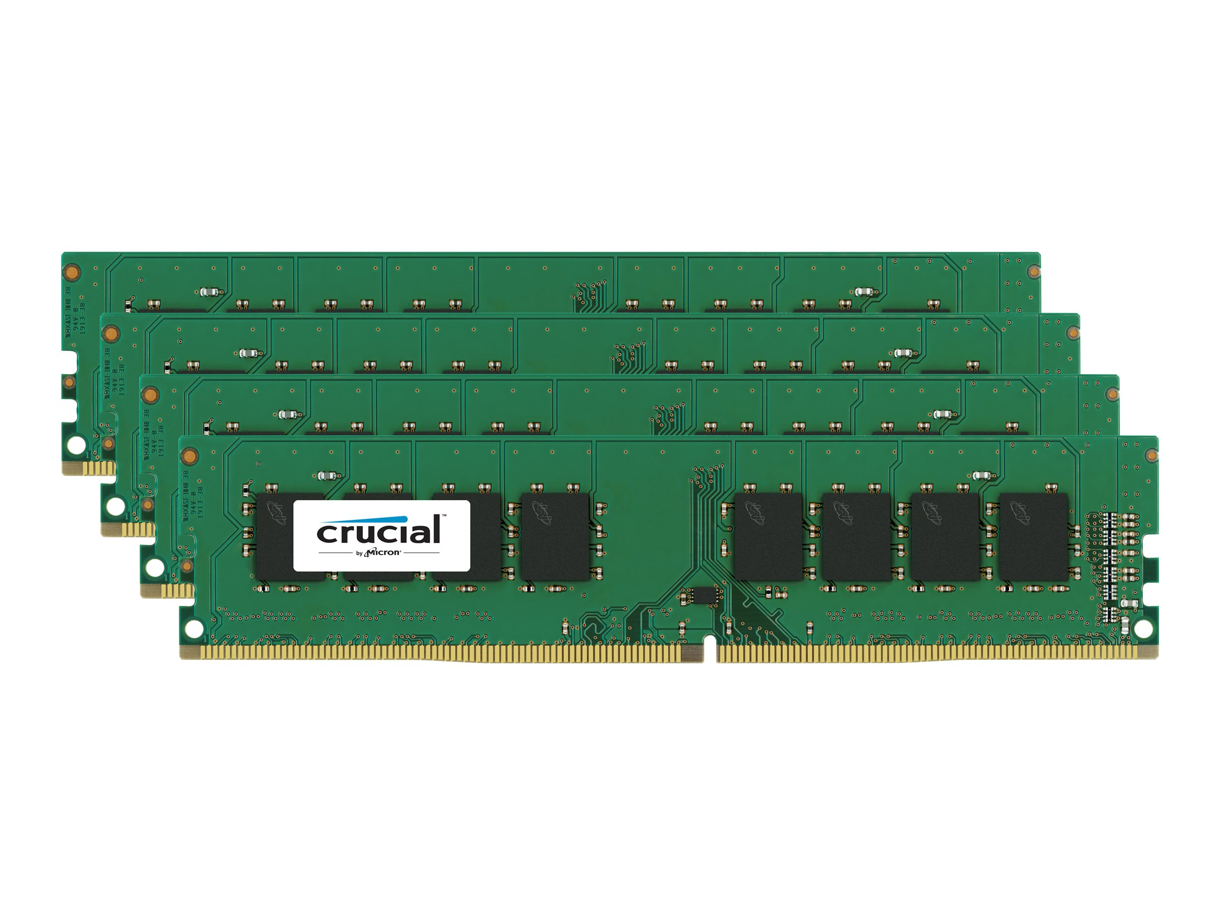 Crucial 16GB PC4-17000 288-pin DDR4 SDRAM UDIMM Kit, CT4K4G4DFS8213, 17714309, Memory