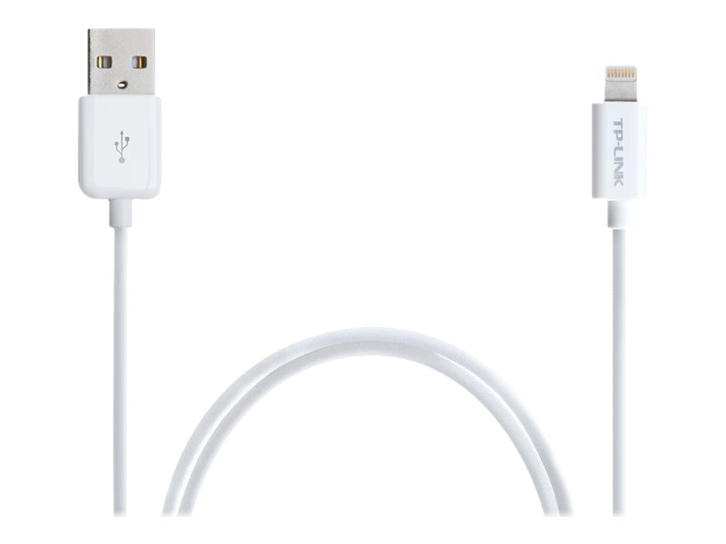 TP-LINK Lightning to USB Type A M M Charge and Sync Cable, White, 3ft, TL-AC210