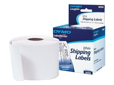 DYMO 2.3 x 4 White Shipping Label Roll (300 Labels), 30256