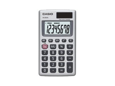 Casio HS8VA Handheld Calculator, HS8VA