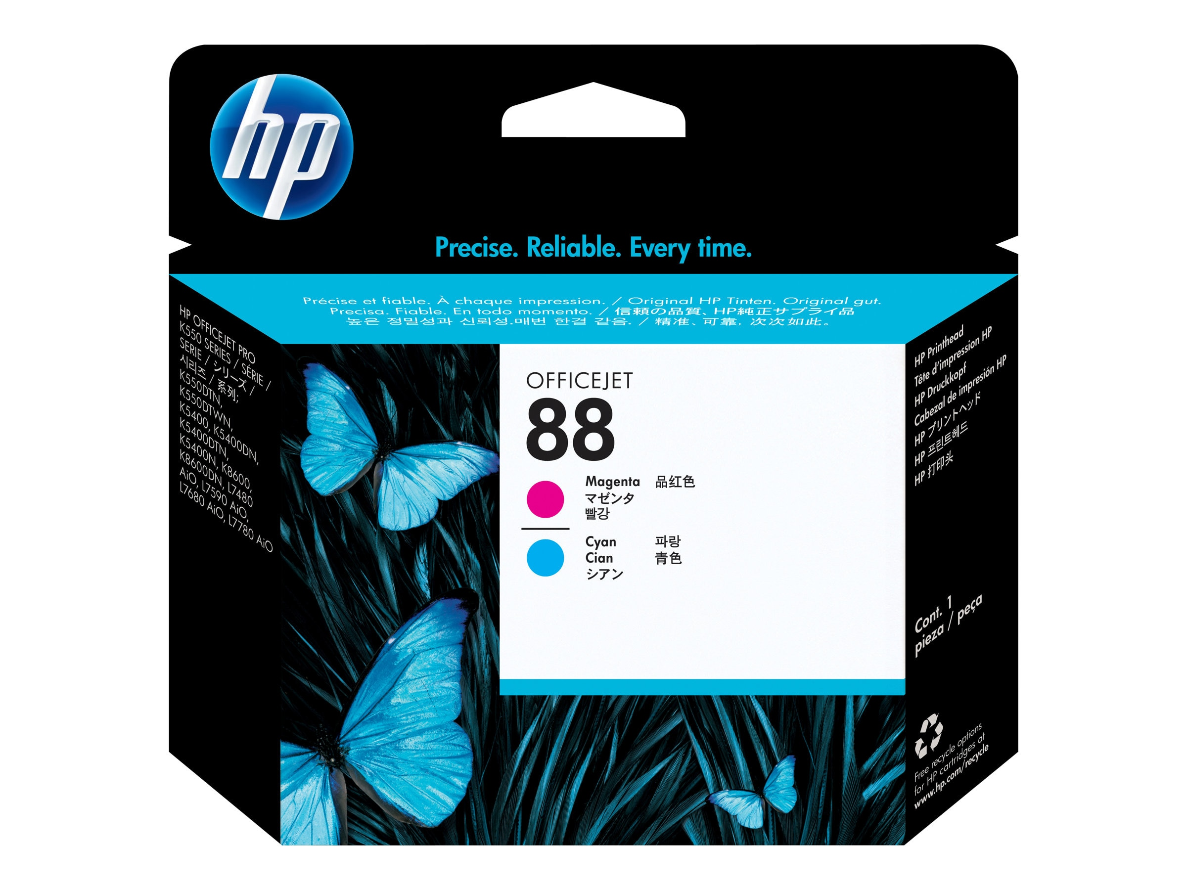HP 88 Magenta & Cyan Printhead, C9382A, 6125285, Ink Cartridges & Ink Refill Kits