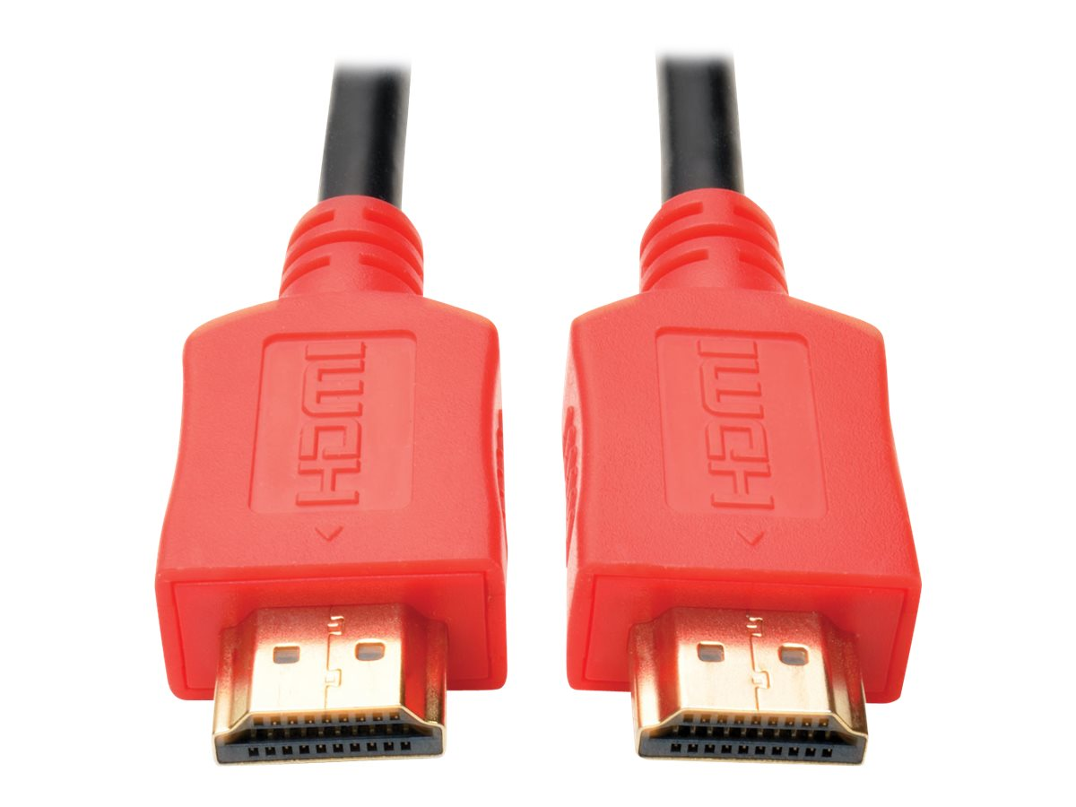 Tripp Lite High-Speed HDMI M M 4K x 2K Cable with Digital Video and Audio, Red, 6ft