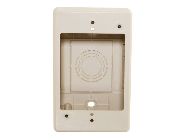 C2G Tyton Raceway Single Gang Junction Box, 2in, Ivory, 13379, 10621206, Premise Wiring Equipment