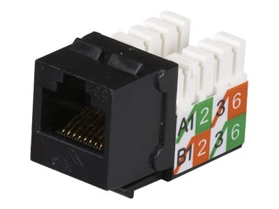 Black Box GigaBase2 CAT5e Jack, Universal Wiring, Black